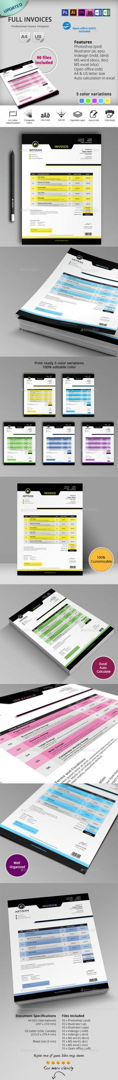Invoice - #Proposals  Invoices #Stationery Download here