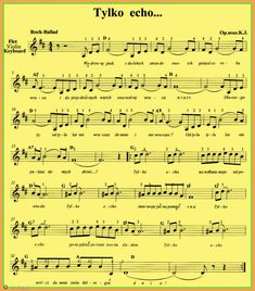 Tylko echo... Partitions, Music Notes, Sheet Music, Google, Music Sheets, Song Lyrics
