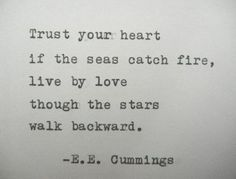 E.E. CUMMINGS Quote Hand Typed Typewriter Quote Typed with Vintage Typewriter Art Paper Goods Cards