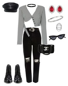 """""""cafe date❤️"""" by fakeplastic ❤ liked on Polyvore featuring River Island, Seen, Chanel, Allurez, Lynn Ban, Cartier, Dsquared2, Yves Saint Laurent, Le Specs and CoffeeDate"""