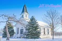 This Wedding Chapel was built in the 1850's and was moved to Apple Mountain, a golf and ski resort in Saginaw, Michigan