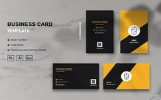 Sans - Business Card Template Corporate Business, Corporate Identity, Business Card Design, Business Cards, Visiting Card Design, Name Cards, Personal Branding, Stationery, Templates
