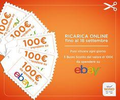Buoni sconto eBay in palio con Wind - http://www.omaggiomania.com/concorsi-a-premi/buoni-sconto-ebay-in-palio-wind/