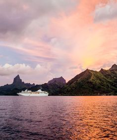 French Polynesia water sky mountain Nature loch Lake cloud highland Sea lake district fjord calm morning reservoir Sunset evening dawn horizon afterglow River dusk hill sunlight sunrise mount scenery landscape Ocean tree Coast inlet mountain range fell bank sound clouds surrounded cloudy shore day distance