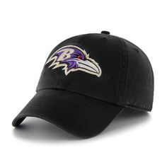 official photos f74e8 ff289 Baltimore Ravens 47 Brand Classic Black The Franchise Fitted Hat Cap