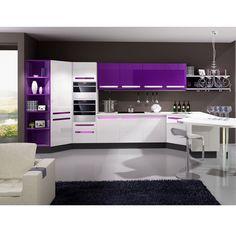 purple kitchen | Purple Kitchen Cabinet (OP12-X143) - large image for Lacquer Kitchen ...