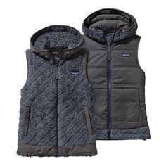 Patagonia Women\'s Los Gatos Hooded Fleece Vest - Smolder Blue SMDB
