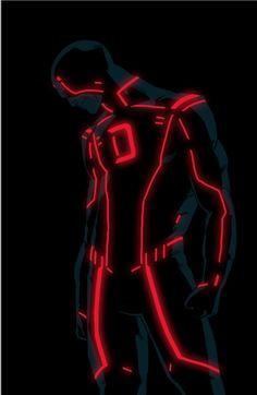 Tron Superheroes Serie by Kris Anka