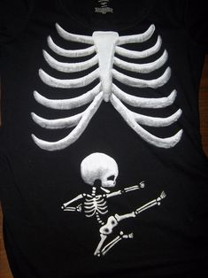 """""""Pick Your Baby Skeleton Maternity Tee - """"...I Thought That This Was Super Cute...It Is From Etsy...Click On Picture To See Info On Where, How Much..."""