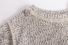 Details of The Tweed Sweatshirt from the HATCH Fall Winter 2015 Collection.
