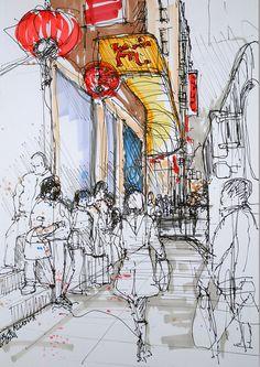 Allen St, Chinatown, NYC by Brendan Higgins 2011