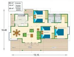 Plano de cabaña prefabricada de 86m2 Charlie Day, 100 M2, Container Architecture, Earthship, Cabin Homes, Home Deco, House Plans, Floor Plans, Cottage