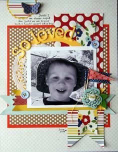 #papercraft #scrapbook #layout. So Loved **Pebbles** - Two Peas in a Bucket