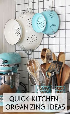 quick and easy kitchen organizing ideas organization ideas #organization #organized