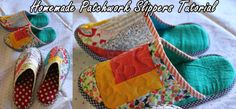 Homemade Patchwork Slippers Tutorial Homesteading  - The Homestead Survival .Com