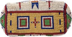 A SIOUX PICTORIAL BEADED HIDE DOCTOR'S BAG. c. 1890... American | Lot #50039 | Heritage Auctions