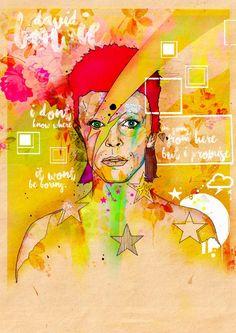 David Bowie print by @Inkquisitive #DavidBowie #Music