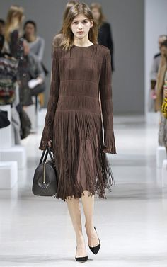 Nina Ricci Fall/Winter 2015 Fringe Dress now at Moda Operandi the only place to pre-order directly from the runway!