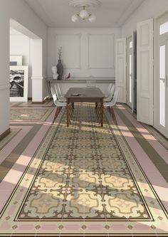 Serie 1900 est un carrelage, de la collection 1900, apparence carreaux ciment déco, parfait pour votre salon.   VIVES Azulejos y Gres S.A.