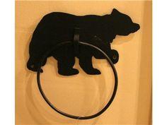 Bear hand towel holder
