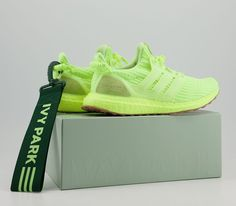 IVY PARK x Adidas Ultra Boost Yellow Credit : Offspring — #adidas #beyonce #sneakerhead #sneakersaddict #sneakers #kicks #footwear #shoes #fashion #style Latest Sneakers, Women's Sneakers, Ivy Park, Footwear Shoes, Beyonce, Kicks, Yellow, Style, Fashion