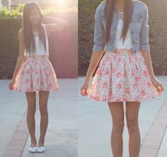 Great spring outfit! The jean jacket is a nice touch :)
