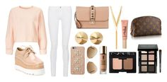 """Lunch"" by valeriatrujillog on Polyvore featuring Frame Denim, Valentino, Eddie Borgo, Miss Selfridge, BERRICLE, MICHAEL Michael Kors, Ray-Ban, Yves Saint Laurent, NARS Cosmetics and Bobbi Brown Cosmetics"