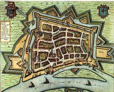 Venlo, Limburg, the Netherlands.  Map from 1652 by Joan Blaeu http://nl.wikipedia.org/wiki/Venlo_(stad)