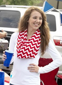 New Chevron Infinity Scarves - perfect for fall