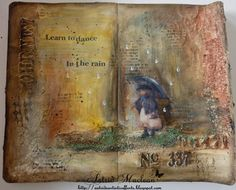 Created by @astridchristine for Mixed Media Monthly Challenge #11 April 2015