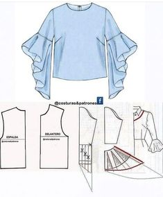 How to sew an umbrella dress Easy - # sewing # umbrella dress Dress Sewing Patterns, Blouse Patterns, Clothing Patterns, Blouse Designs, Fashion Sewing, Diy Fashion, Ideias Fashion, Sleeves Designs For Dresses, Sleeve Designs