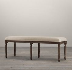 Louis Bench | Ottomans & Benches | Restoration Hardware - For foot of Bed (plus throw)