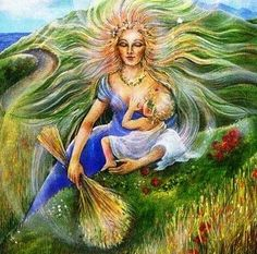 DEMETER - Greek Goddess of the harvest also known as Ceres by the Romans. Root name means Mother Earth Demeter Greek Goddess, Ceres Goddess, Earth Goddess, Mother Goddess, Goddess Art, Greek Gods And Goddesses, Greek Mythology, Aphrodite, Goddess Of Grain