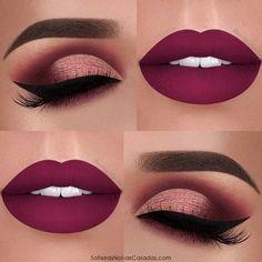 Prom Red Lipstick and Eye Make up Ideas Makeup Goals, Makeup Inspo, Makeup Inspiration, Makeup Tips, Hair Makeup, Makeup Ideas, Makeup Products, Makeup Trends, Makeup Hacks