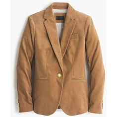 J.Crew Pre-order Campbell blazer in corduroy ($178) ❤ liked on Polyvore