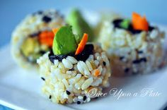 Once Upon a Plate: Sushi Rolls ~ Uramaki (Rice on the outside)