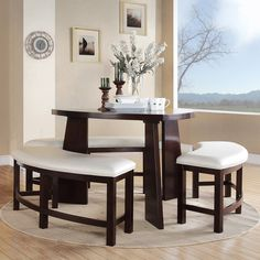 TRIBECCA HOME Paradise Merlot Triangle Shaped 4-piece Dining Set - Overstock™ Shopping - Big Discounts on Tribecca Home Dining Sets