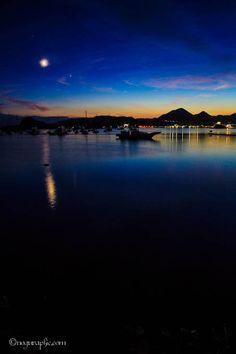 ハリスの小径夕景, Shimoda Japan