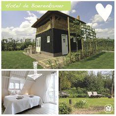 Adresje van de week: Hotel de Boerenkamer Bijzonder logeren bij de boer op verschillende locaties in Noord-Holland. Er zijn B's en groepsaccommodaties.