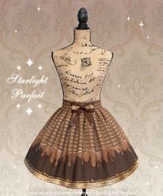 This skirt contains pictures of chocolate pieces which melt downward followed by golden polka dots and finally golden trim. A bow glitters at the top of the skirt.  ~~~~~~~~~~~~~~~~~~~~~~~~~~~~~  IMPORTANT INFORMATION: *This skirt is shown with a petticoat underneath. The PETTICOAT IS NOT INCLUDED. *This particular skirt can be worn with or without a petticoat but an A-line petticoat will add more volume. *It will take me one week to produce this skirt before shipping since it is…
