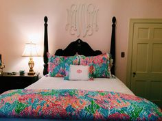Lilly pulitzer bedding #monogram #bedding #lilly