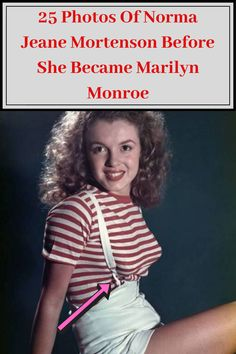 Before the glitz and the glamor that was Marilyn Monroe, there was Norma Jeane Mortenson: a curly-haired brunette who never expected to be anything more than a housewife. Baby Bottle Holders, Afro Braids, Pretty Animals, April 10, Weird Facts, Fun Facts, Norma Jeane, New Year 2020, Show Photos