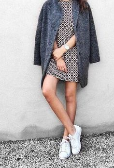 HOW TO: rock the sneakers + a dress look | Skirt the Ceiling | skirttheceiling.com