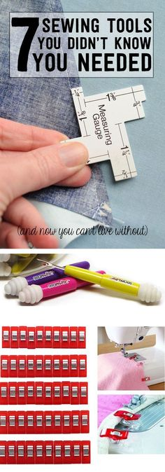 7 of my favorite Sewing Tools and Notions - great list if you're learning how to sew. [ad]: