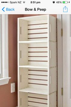 Crate book shelf