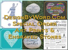 Special Order 30th Anniversary Gifts, Personalized Anniversary Gifts, Birthday Words, 90th Birthday Gifts, Memorial Stones, Cat Memorial, Wedding Time Capsule, Grave Markers, Christening Gifts
