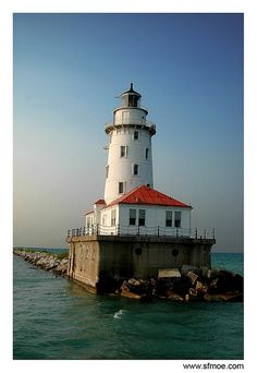 Light House on Lake Michigan
