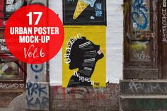 Urban Poster Mock-up VOL.6 by Eleven on Creative Market