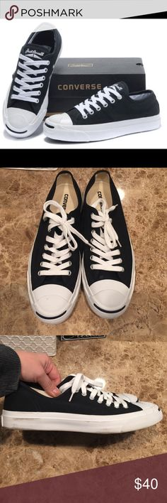 Jack Purcell Converse Worn twice, marks can easily be cleaned up on rubber sole Converse Shoes Sneakers