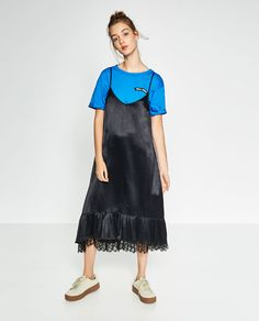 Image 1 of FRILLED CAMISOLE DRESS from Zara
